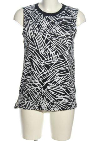 Nike Tanktop schwarz-weiß abstraktes Muster Casual-Look