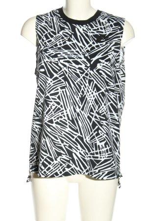 Nike Tanktop weiß-schwarz abstraktes Muster Casual-Look