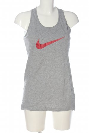 Nike Tanktop hellgrau-rot Casual-Look