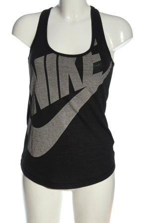 Nike Tanktop schwarz-hellgrau Motivdruck Casual-Look
