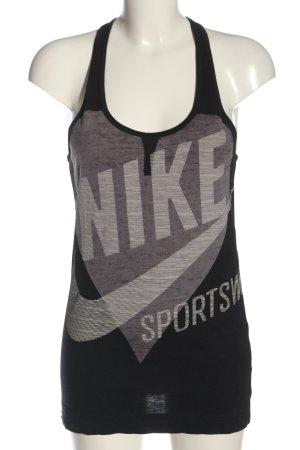 Nike Tanktop schwarz Schriftzug gedruckt Casual-Look
