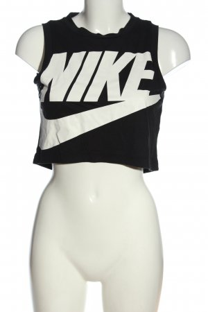 Nike Tanktop schwarz-weiß Motivdruck Casual-Look