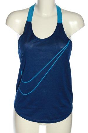 Nike Tanktop blau-türkis Motivdruck Casual-Look