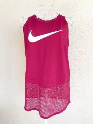 Nike Tanktop mit Netzteil pink Gr.S