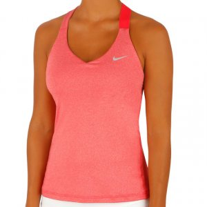 Nike Off the shoulder top lichtrood Polyester