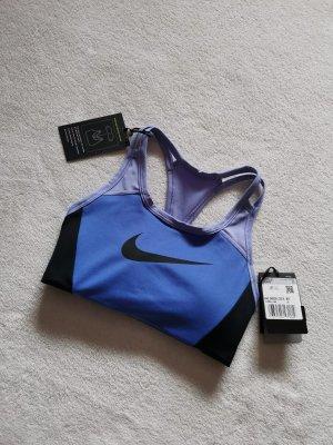 Nike Top Bustier Sport BH XS 34 blau schwarz cropped Top