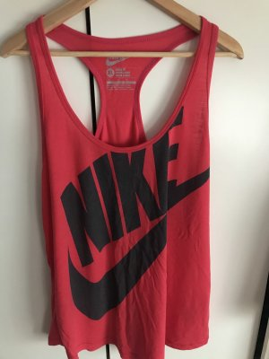 Nike Top sportowy czerwony neonowy