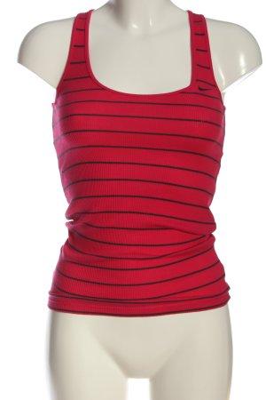 Nike Trägertop rot-schwarz Streifenmuster Casual-Look