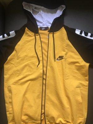 Nike Pull à capuche jaune-noir