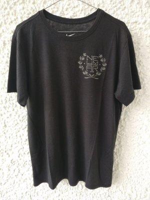 Nike T-shirt zwart Gemengd weefsel