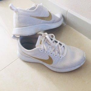 Nike Turnschuhe Laufschuhe Sneaker weiß gold