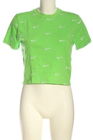 Nike U-Boot-Shirt grün-weiß Casual-Look