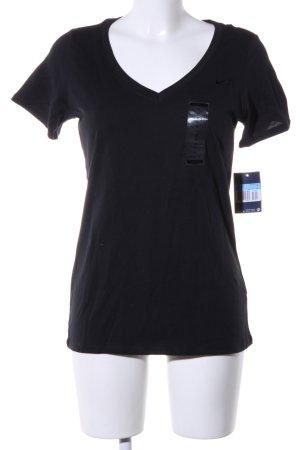 Nike V-Ausschnitt-Shirt schwarz Casual-Look