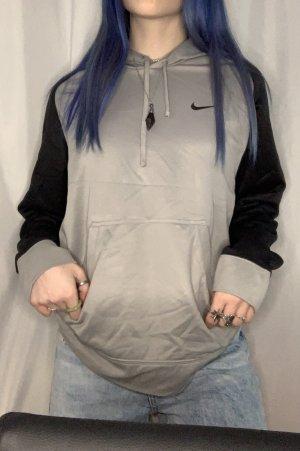 Nike Vintage hoodie grau schwarz Größe S Unisex