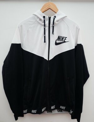 Nike Vintage Jacke, Schwarz Weiß, Gr. L, Oversize