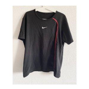 Nike Vintage Oversized Shirt Weiß Schwarz Rot Swoosh