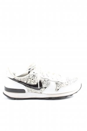 Nike Wedge Sneaker white-black themed print casual look