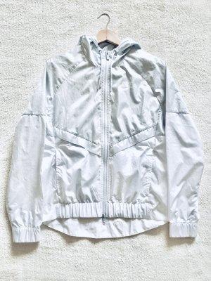 Nike Windbreaker Jacke grau silber weiß Gr. M