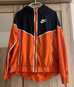 Nike Windbreaker Jacke orange /blau L