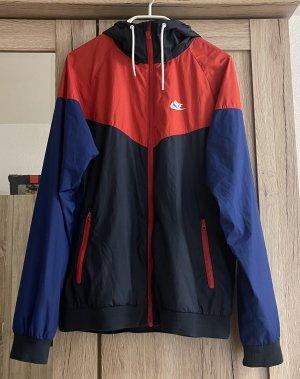 Nike Kurtka z kapturem czerwony-ciemnoniebieski