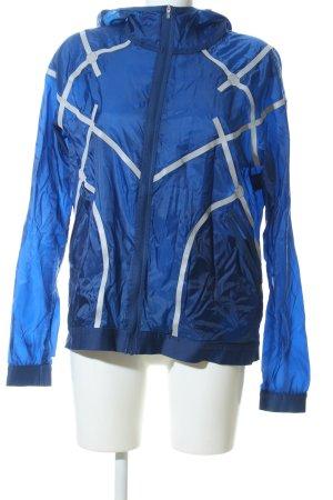 Nike Windbreaker blue-light grey abstract pattern casual look