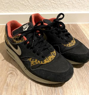 Nike WMNS Air Max 1 Leopard Schwarz Beige Rot