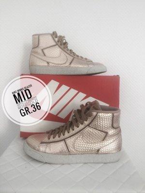 Nike wmns Blazer mid bronce Roségold neuwertig sneaker limited ausverkauft blogger