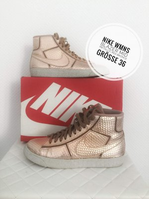 Nike wmns Blazer mid cut 36 metallic bronce sneaker Retro vintage Schuhe blogger