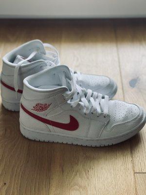 Air Jordan High top sneaker wit-donkerrood
