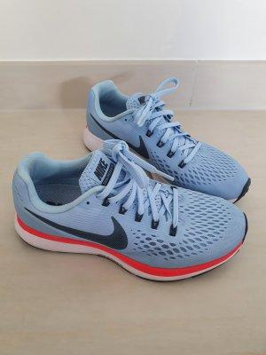 Nike Lace-Up Sneaker neon blue mixture fibre