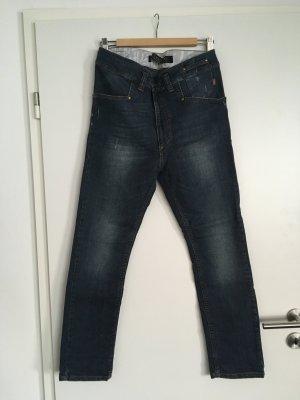 Nikita Workowate jeansy ciemnoniebieski-szary niebieski Bawełna