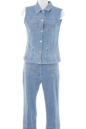 Nikita Jersey Twin Set hellblau meliert Jeans-Optik