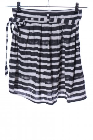 Nikita Minirock schwarz-weiß Streifenmuster Casual-Look