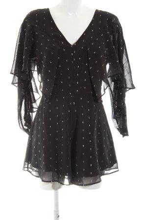 Nikkie Jumpsuit schwarz-silberfarben Glitzer-Optik