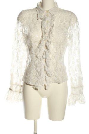Nikowa Blusa de encaje blanco elegante