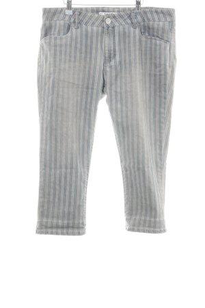 NILE atelier 7/8 Jeans hellgrau-blau Streifenmuster Casual-Look