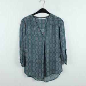 NILE ATELIER Bluse Gr. XS rot blau rot gemustert (20/01/105)