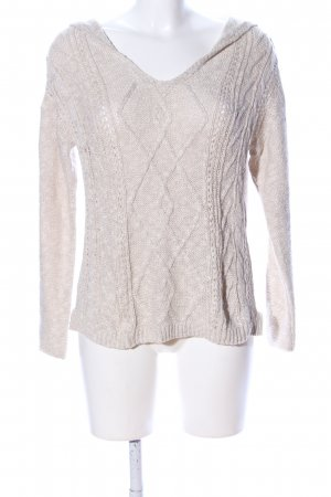 NILE atelier Strickpullover creme Zopfmuster Casual-Look