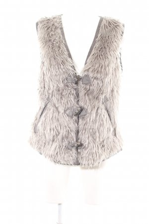 NILE atelier Reversible Vest light grey-natural white casual look