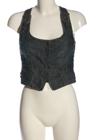 Nile Gilet en jean bleu style décontracté