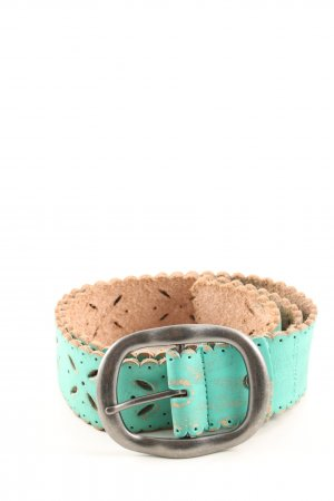 Nile Faux Leather Belt turquoise-nude elegant