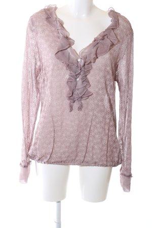 Nile Rüschen-Bluse pink Business-Look