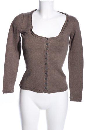 Nile Cardigan in maglia marrone stile casual