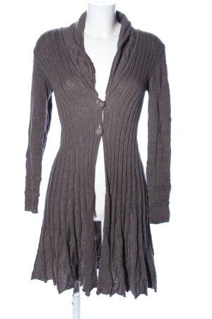 Nile Gebreide jas lichtgrijs simpele stijl