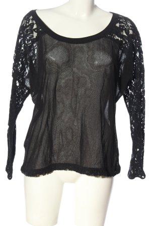 Nile Transparenz-Bluse schwarz Elegant