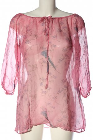 Nile Transparenz-Bluse abstraktes Muster Casual-Look