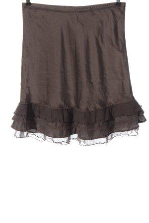 Nile Flounce Skirt brown elegant