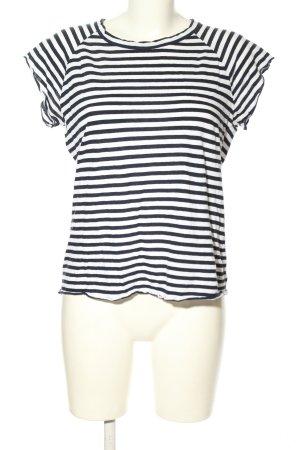 Nili Lotan T-shirt rayé blanc-noir imprimé allover style décontracté
