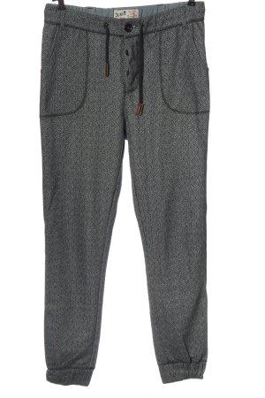 Nils Sundström Pantalón de cintura alta gris claro moteado look casual