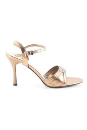 NIMEISI Riemchen-Sandaletten goldfarben Elegant